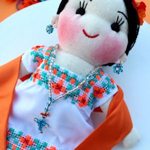 Hand Embroidered Mexican Doll