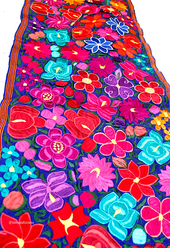 Blue Mexican Table Runner