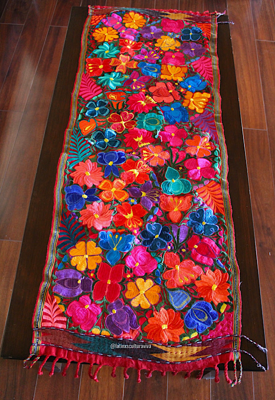 Embroidered Mexican Table Runner