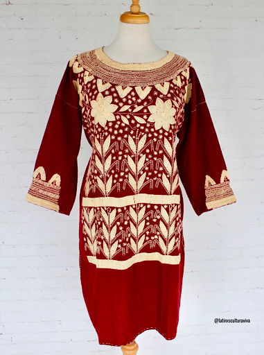 Hand Embroidered Mexican Dress