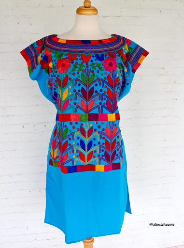 Turquoise Mexican Dress
