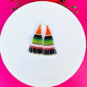 Beaded Zarape Earrings