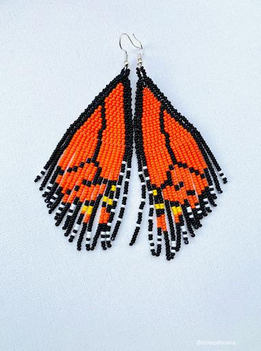 Monarch Beaded Earrings