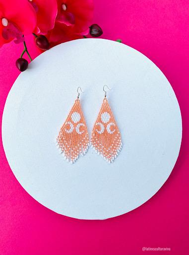 Moon Beaded Earrings
