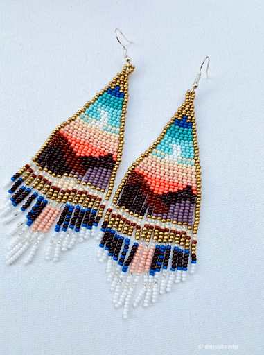 Moonrise Beaded Earrings