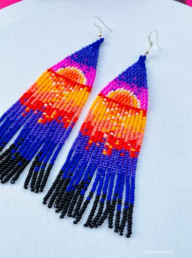 Sun Beaded Earrings