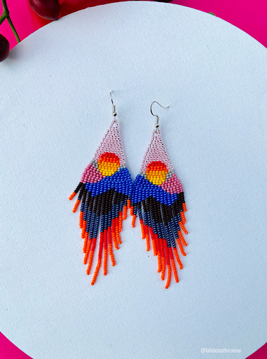 Sunset Beaded Earrings